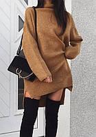 """Качественное женское теплое зимнее платье оверсайз на флисе """"Valery"""" - 42-44,46-48, разные цвета"""