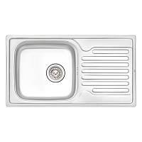 Кухонная мойка Qtap 7843 Satin 0,8 мм (QT7843SAT08), фото 1