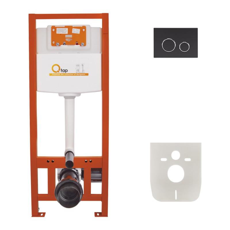 Инсталляция для унитаза Q-tap Nest комплект 4 в 1 с панелью смыва PL M11MBLA