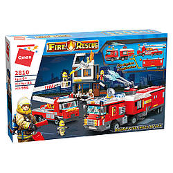 Конструктор QMAN 2810 ПОЖЕЖНИКИ - Пожежний ділянку (996 дит.)