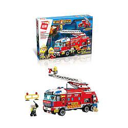 Конструктор QMAN 2807 ПОЖЕЖНИКИ - Пожежна машина (366 дит.)