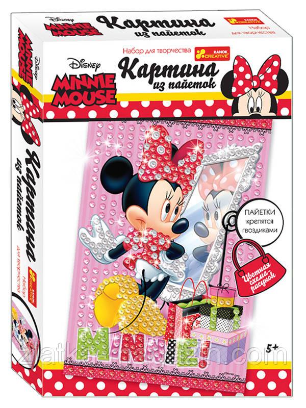 "Картинка з пайеток Дисней ""Минни Маус"" (розовая). Disney"