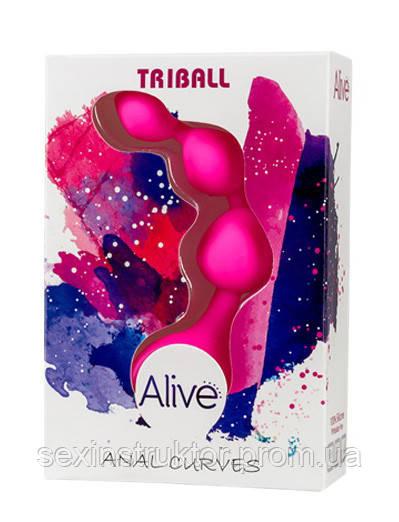 Анальные шарики - Triball Anal Curves Alive Pink