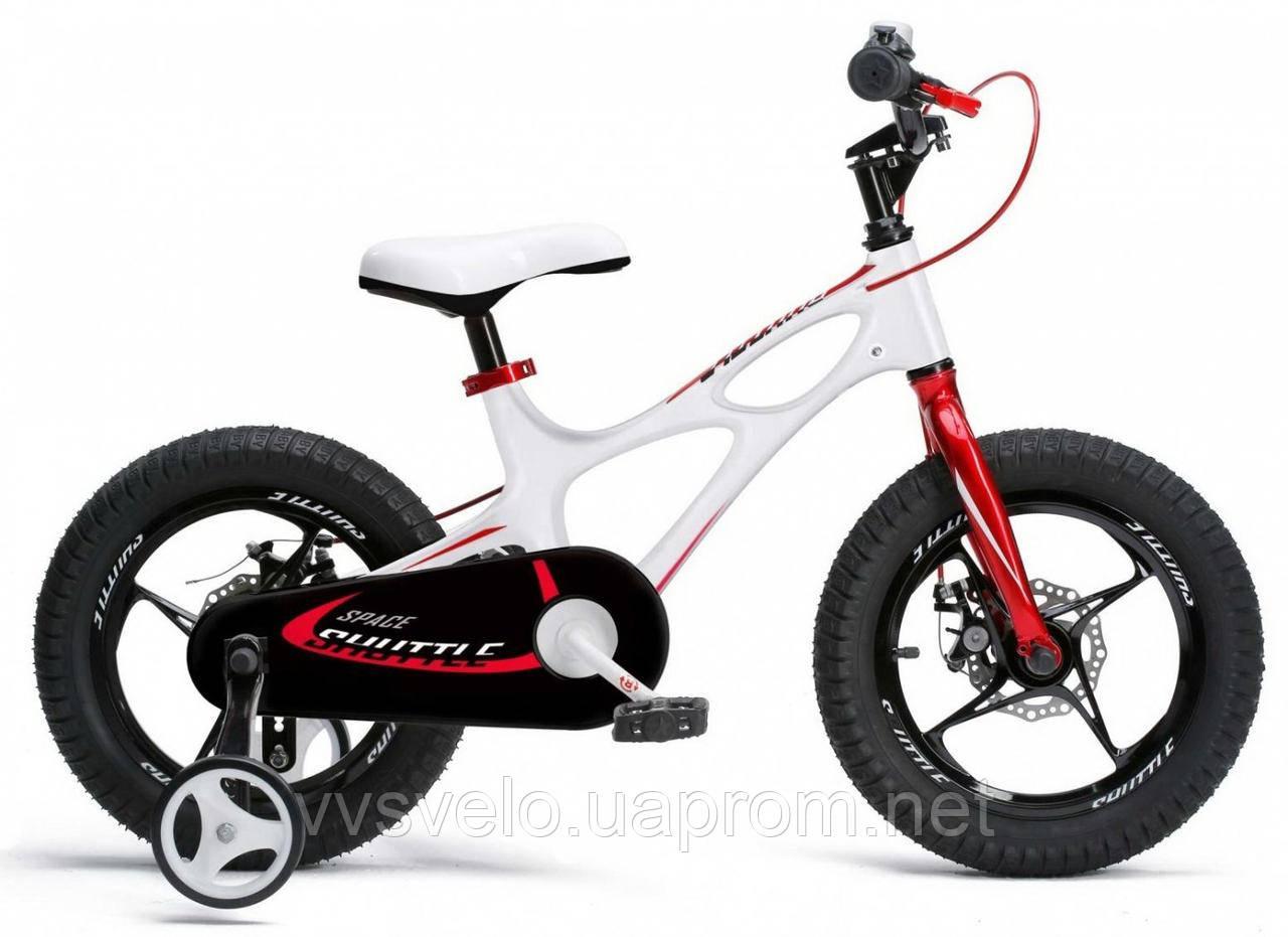 """Велосипед детский 4-х колесный от 4 до 7 лет RoyalBaby SPACE SHUTTLE 18"""", OFFICIAL UA, белый"""