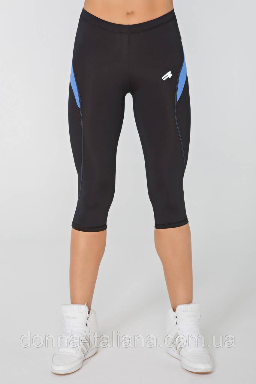 Жіночі спортивні штани Radical Flexy 3/4 S Чорно-сині (r0896)