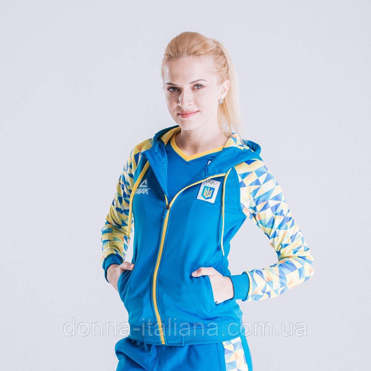 Толстовка женская Peak FS-UW1606NOK-BLU 5XL Голубой (2000129000019)