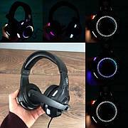 Игровые наушники с микрофоном KR-GM401 геймерские для компьютера ноутбука и подсветкой пс4 ps4 xbox one 360