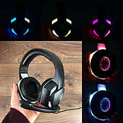 Игровые наушники с микрофоном KR-GM302 геймерские для компьютера ноутбука и подсветкой пс4 ps4 xbox one 360