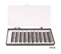 Шелковые ресницы ручного безузелкового сплетения (черные; длина 12 mm) Lady Victory LDV EYS-03 /13-4