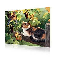 """Картина по номерам Lesko DIY E689 """"Трехцветный кот"""" 40х50 см картинки по номерам на холсте, фото 1"""