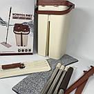 Швабра и ведро Scratch Anet M3 со складной ручкой и системой отжима бежево\коричневая, фото 9
