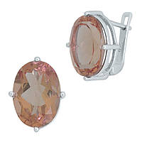 Серебряные серьги DreamJewelry с Султанит султанитом 10.975ct (2007951), фото 1
