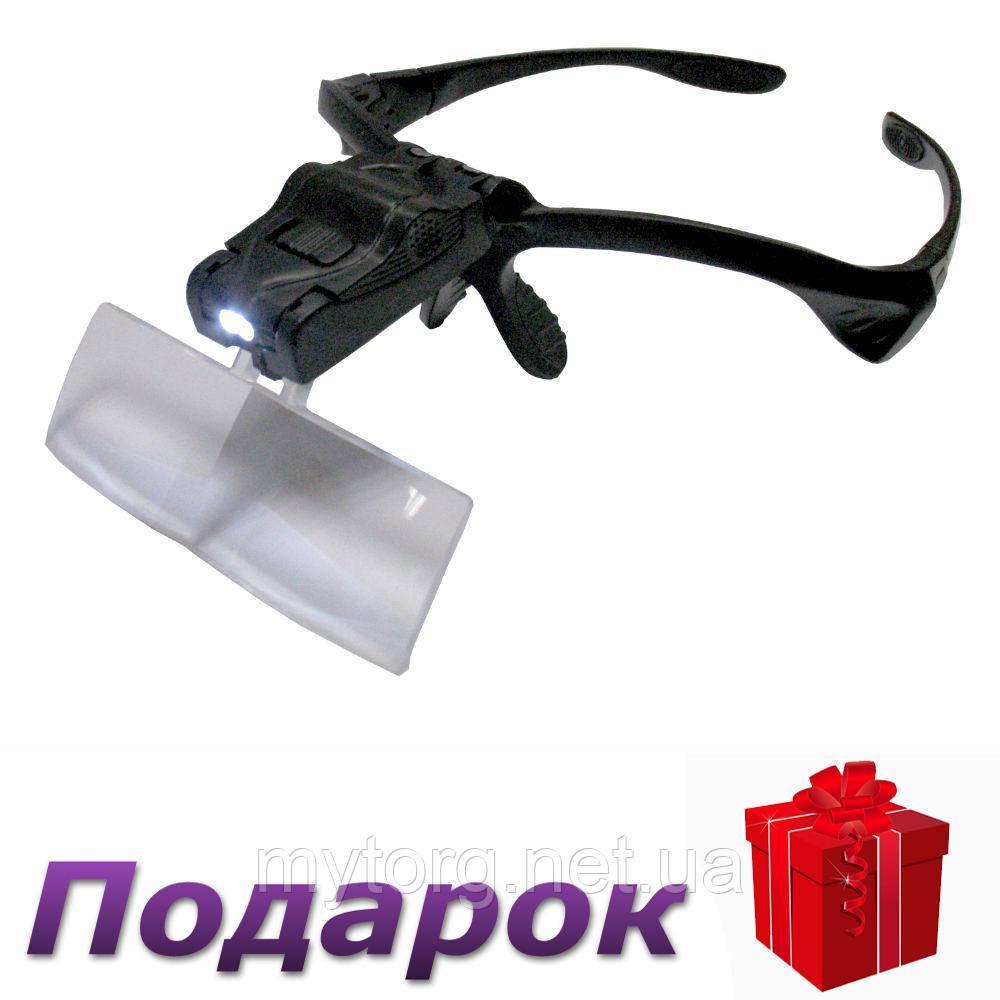 Увеличительные лупа-очки №300 с LED подсветкой