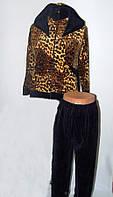 Стильный женский костюм с тигровым принтом