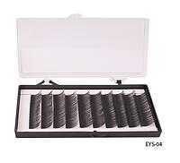 Шелковые ресницы ручного безузелкового сплетения (черные; длина 14 mm) Lady Victory LDV  EYS-04 /13-4
