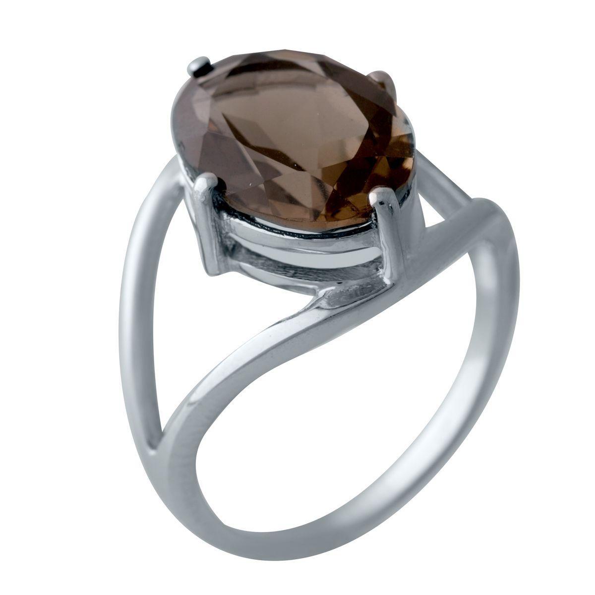 Серебряные серьги DreamJewelry с натуральным раухтопазом (димчатим кварцем) (2025719)