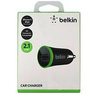 Автомобильное зярядное устройство Belkin USB MicroCharger (12V, USB 2.1Amp)
