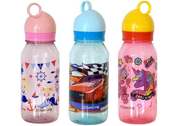 Пляшка для води 550мл. пластикова