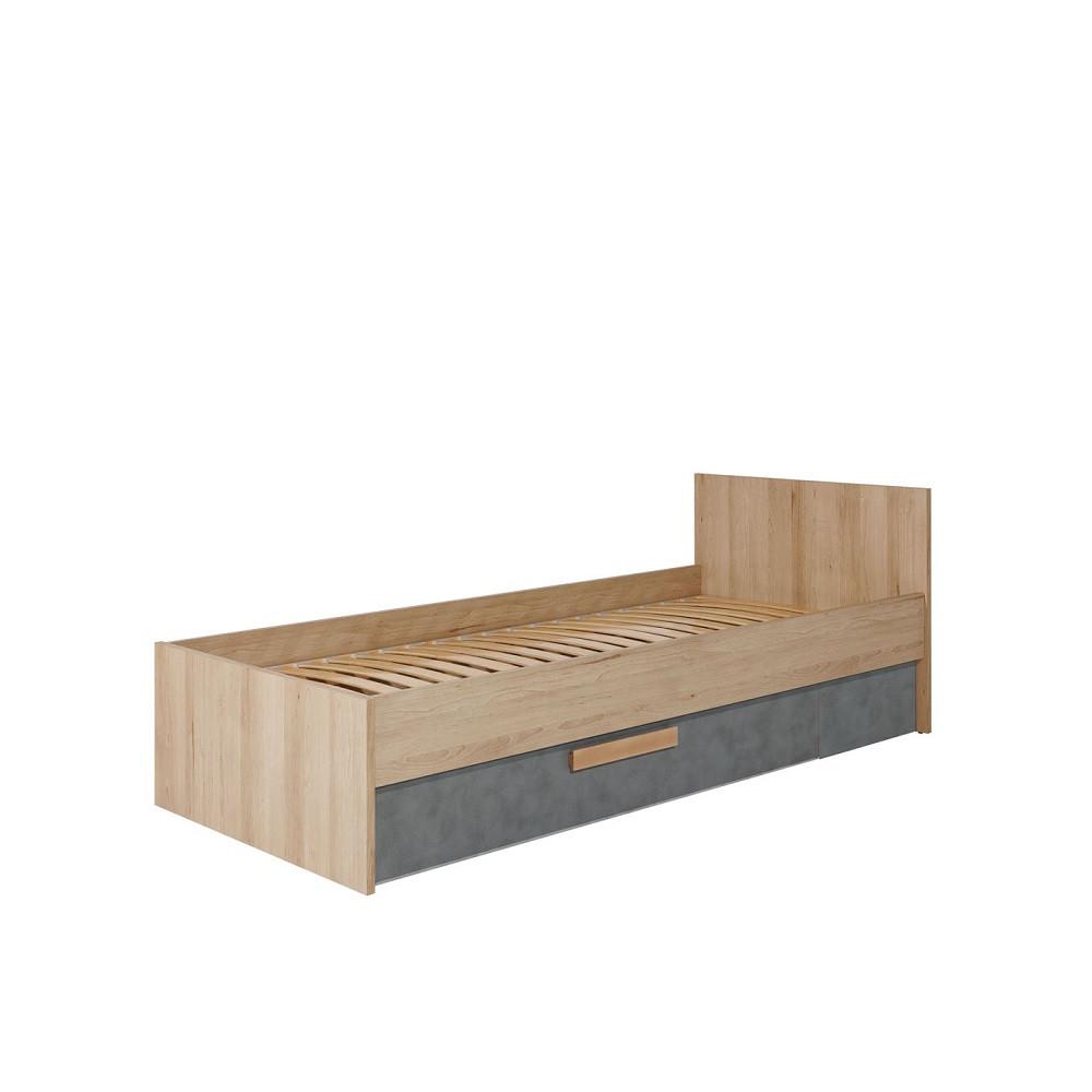 Кровать 900 Айго Сокме 90х200 без ламелей бук артисан без ламелей