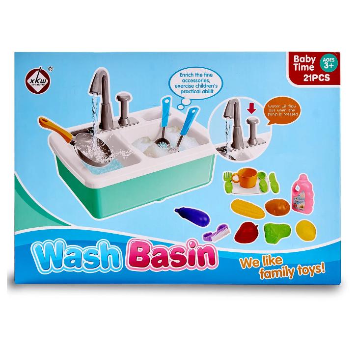 """Игровой набор """"Кухонная мойка"""" с аксессуарами. Интерактивная детская кухня, льется вода. Подарок для девочки."""