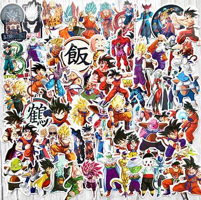 Наклейки на ноутбук Anime Dragon Super Saiyan Goku 100 шт