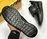 Кроссовки мужские кожаные Nike Roshe Black, реплика. Чёрные кроссовки, кеды. Слипоны. Ботинки, фото 6