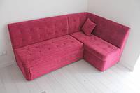 Раскладной угловой кухонный диван (Бордовый), фото 1
