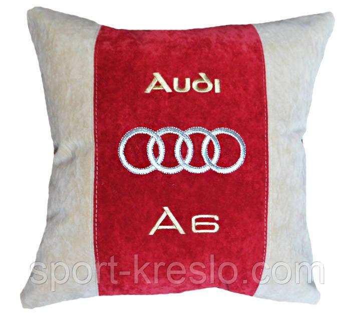 Подушка сувенирная с логотипом авто ауди Audi