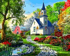 Раскраска для взрослых Babylon Маленькая Белая Церковь Доминик Дэвисон (VP1287) 40 х 50 см
