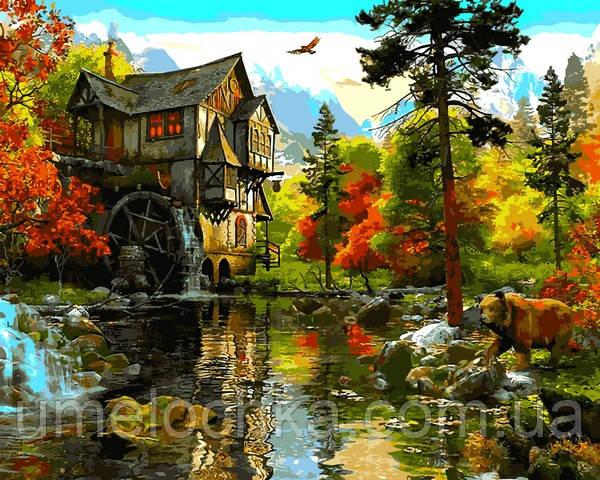 Картины по номерам Babylon Водяная мельница Доминик Дэвисон (VP1288) 40 х 50 см