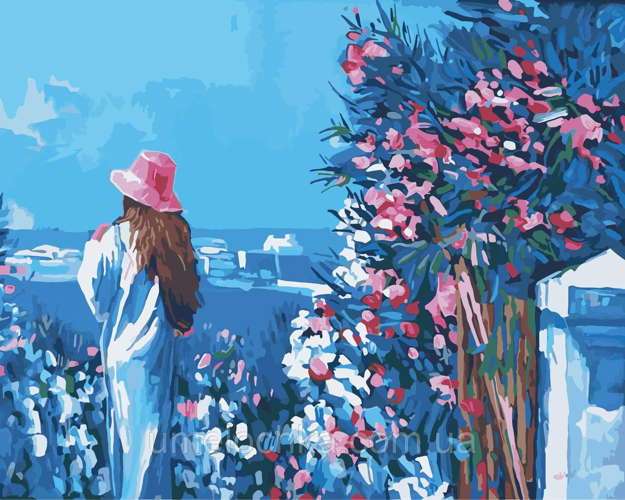 Картина по цифрам Идейка Голубая даль Худ Никола Симбари (KH2119) 40 х 50 см