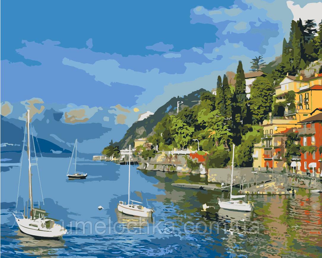 Картина-раскраска Идейка Прибрежный отдых (KH2164) 40 х 50 см