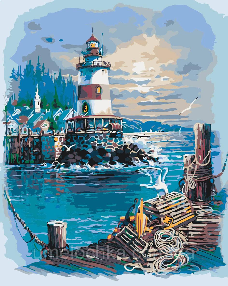Картины по номерам море Тихая гавань Худ Андрес Орпинас (KH2724) 40 х 50 см Идейка