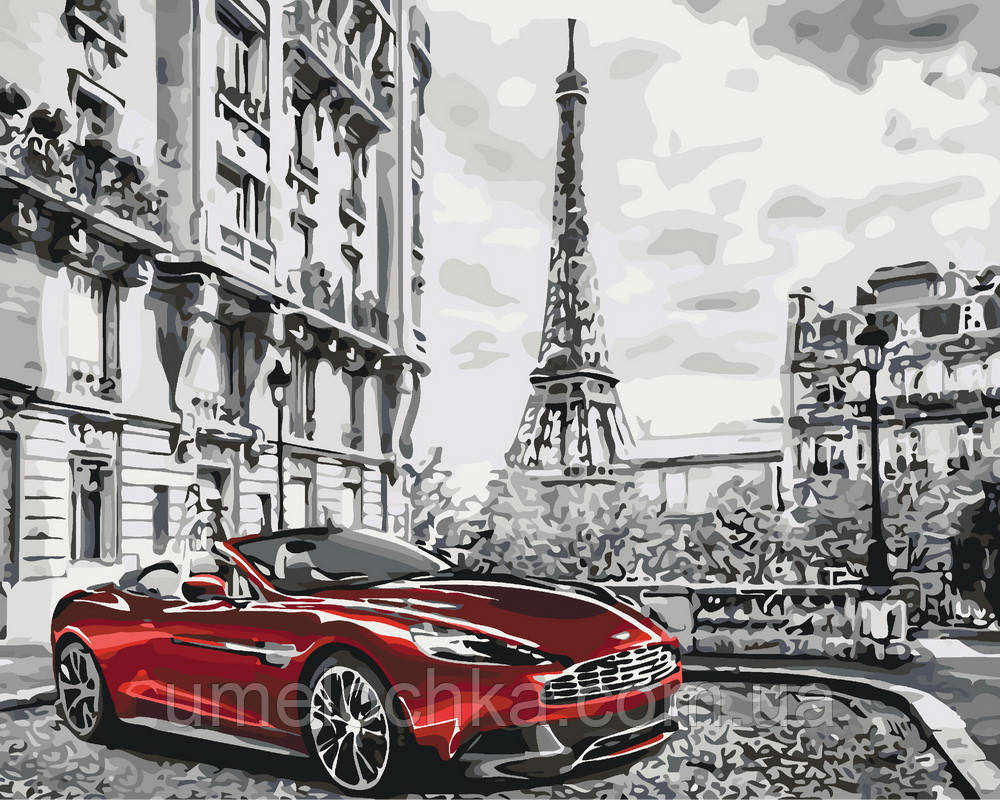 Картина-раскраска Глубокий красный (KH3514) 40 х 50 см