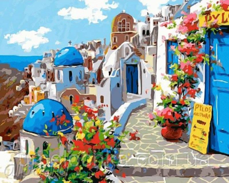 Раскраски по номерам Весна в Санторини (BRM22383) 40 х 50 см