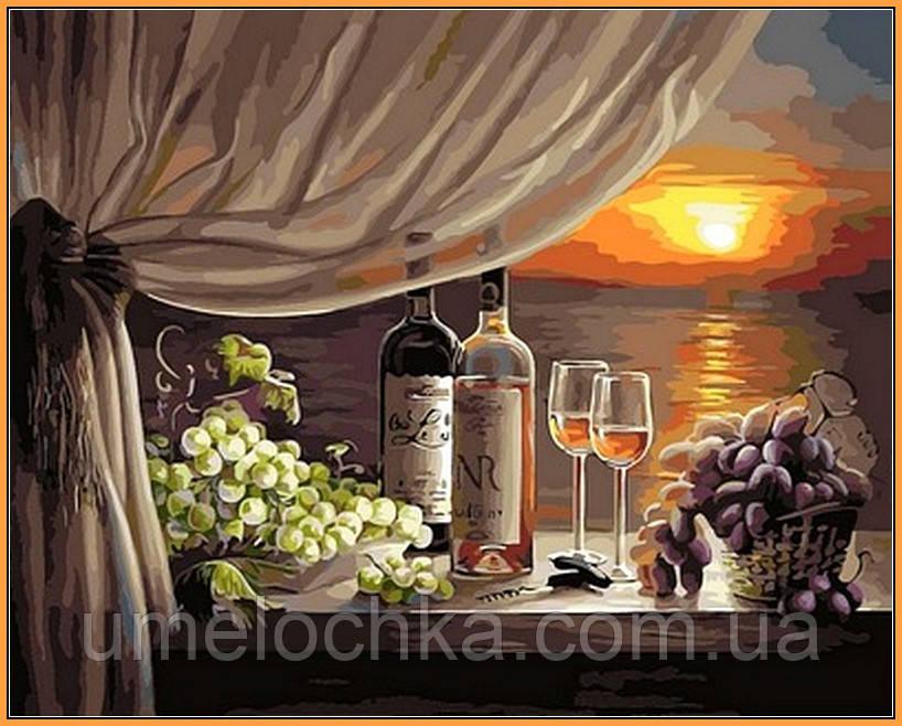 Картина по номерам Babylon Вино на закате (в раме) (NB596R) 40 х 50 см