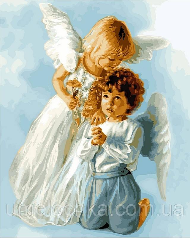 Раскраска по цифрам DIY Babylon Ангельские дети худ Кук, Сандра (VP434) 40 х 50 см