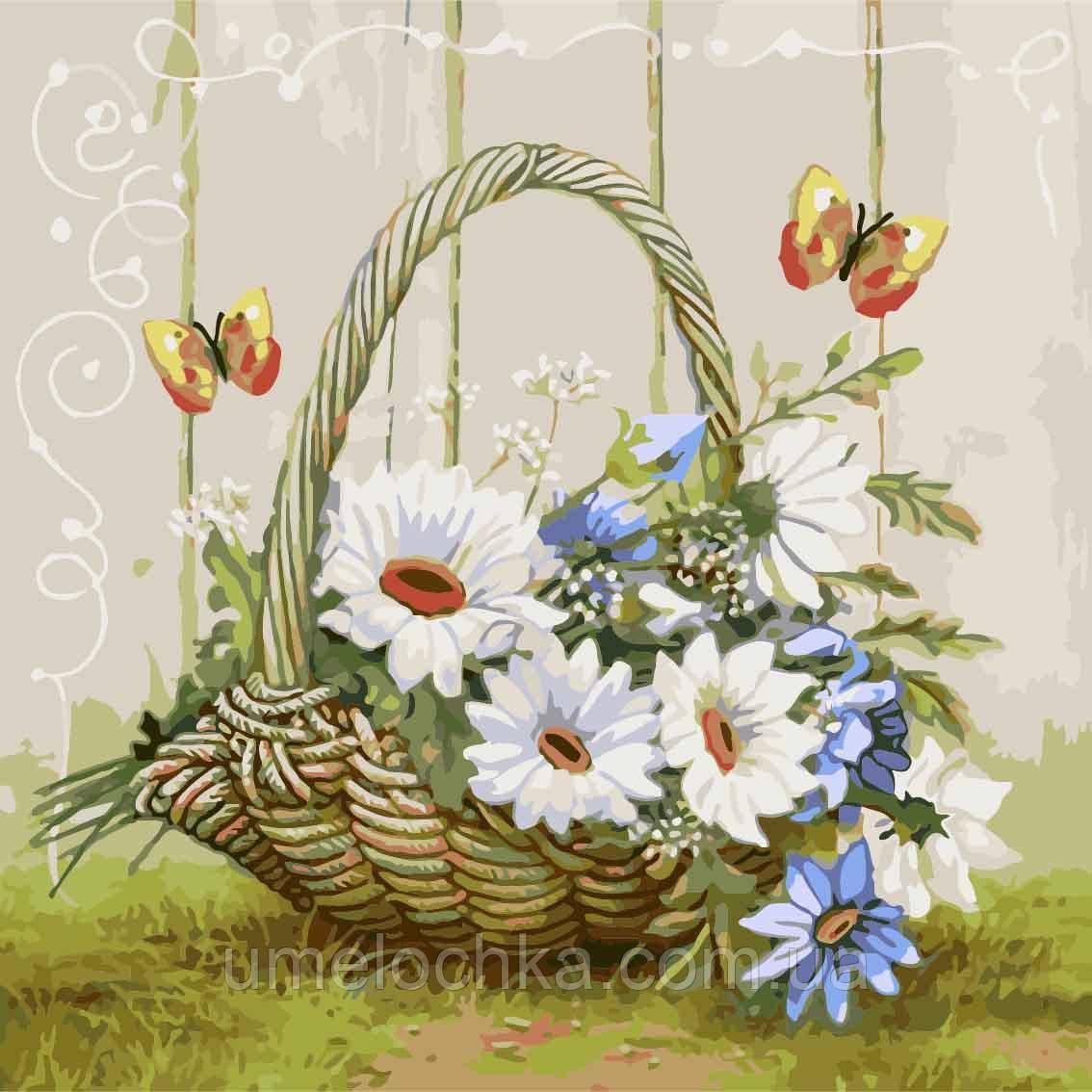 Картина по номерам Подарок из летнего сада (KH2090) 40 х 40 см Идейка