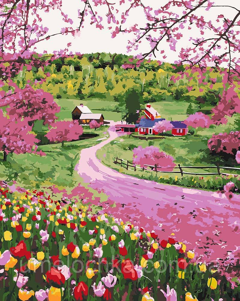 Картина по номерам Дорога среди цветов (KH2254) 40 х 50 см Идейка