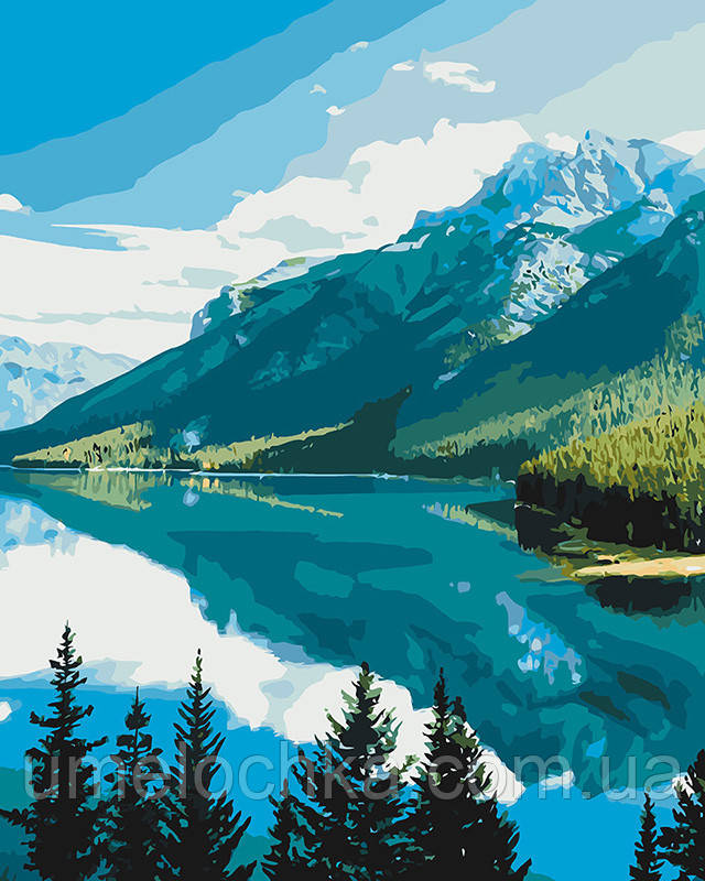 Картина по номерам Идейка Горная красота (KH2266) 40 х 50 см