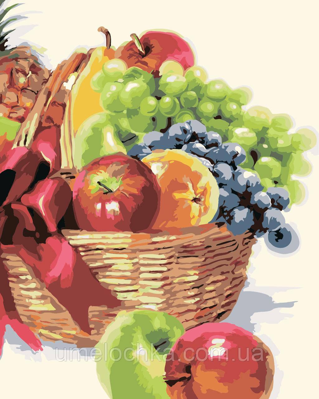 Картина по номерам Идейка Корзинка фруктов Худ Макнейл Ричард (KH2910) 40 х 50 см