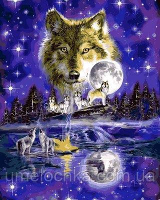 Картина-раскраска DIY Babylon Волчья луна (VP623) 40 х 50 см