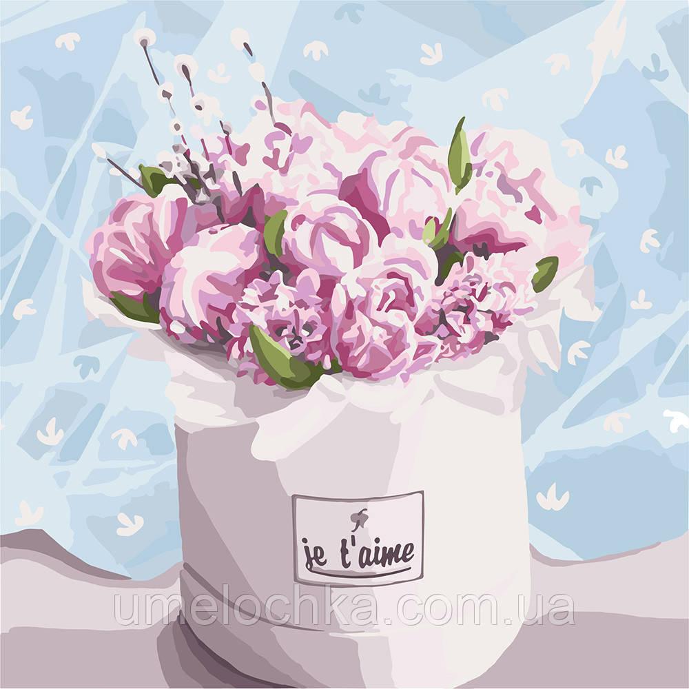 Картина по номерам Идейка Бархатный букет (KH3084) 40 х 40 см