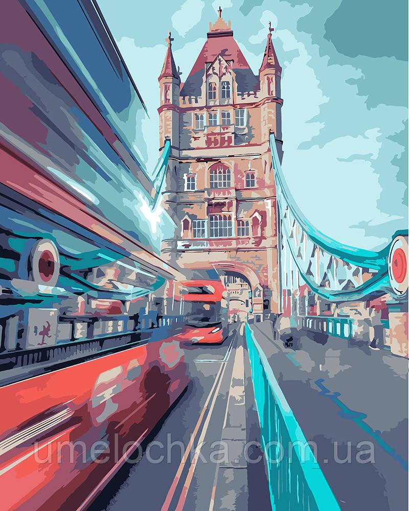 Картина по номерам Идейка Динамический лондон (KH3570) 40 х 50 см