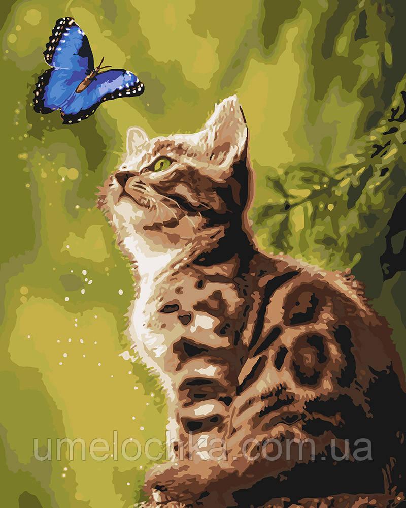 Картина по номерам Идейка Загадочная бабочка (KH4150) 40 х 50 см