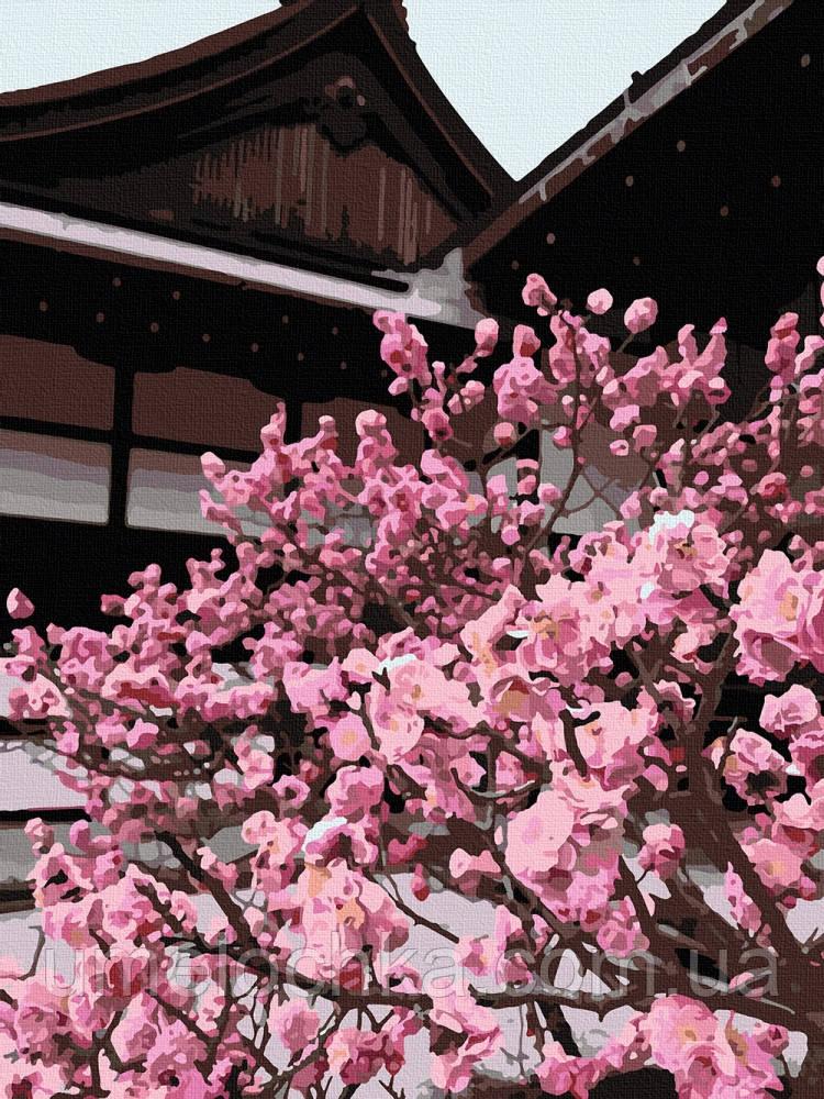 Картина по номерам ArtCraft Японская вишня (10527-AC) 40 х 50 см (Без коробки)