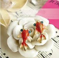 Интересные стильные серьги рыбы, рыбки, фото 1