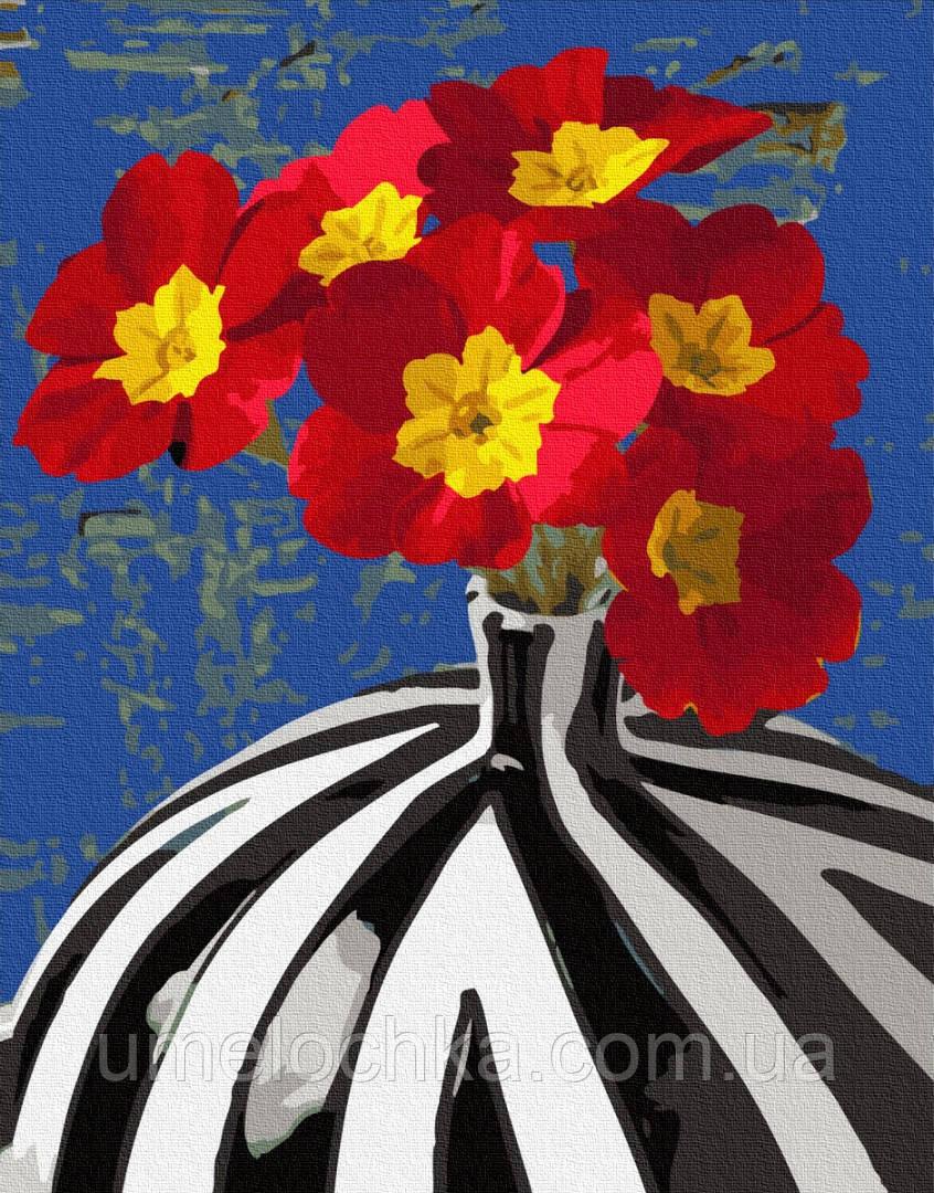 Картина по номерам BrushMe Цветы в сюрреалистической вазе (BRM34152) 40 х 50 см