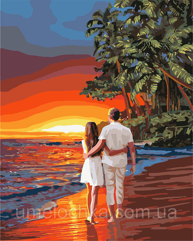 Картина по номерам Идейка Романтика на побережье (KH4741) 40 х 50 см