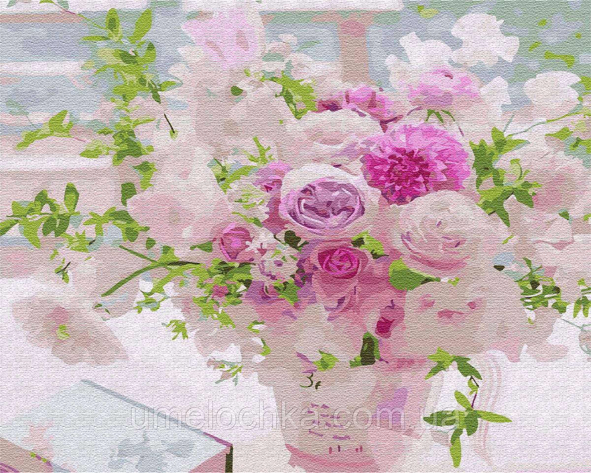 Картина по номерам BrushMe Розовый букет (BRM35617) 40 х 50 см